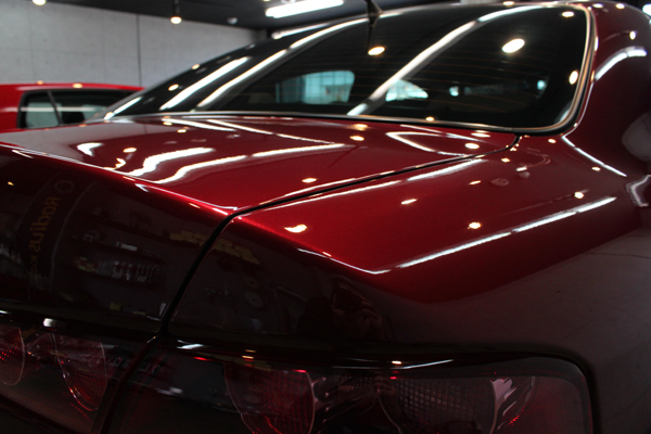 アルファロメオ 159 ルビーノレッド トランク