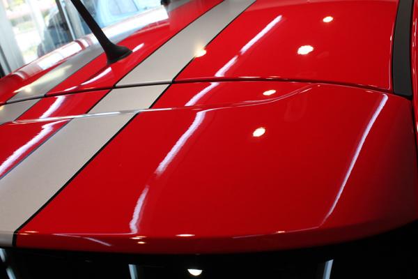 アバルト 695 トリビュートフェラーリ ロッソコルサ ルーフ
