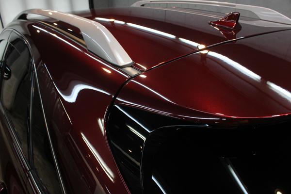 レクサス RX 450h ガーネットレッドマイカ ルーフ