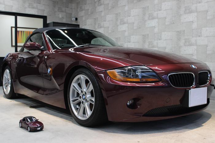 BMW Z4 メルローレッド フロントバンパー3