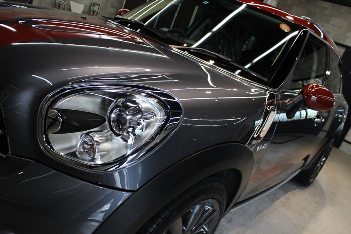 BMW ミニ クーパーSD クロスオーバー パークレーン アールグレー ヘッドライト