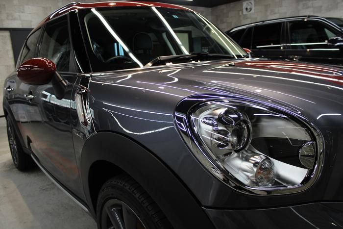 BMW ミニ クーパーSD クロスオーバー パークレーン アールグレー 右ヘッドライト