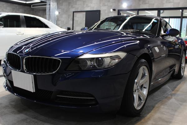 BMWZ4ディープシーブルー左正面