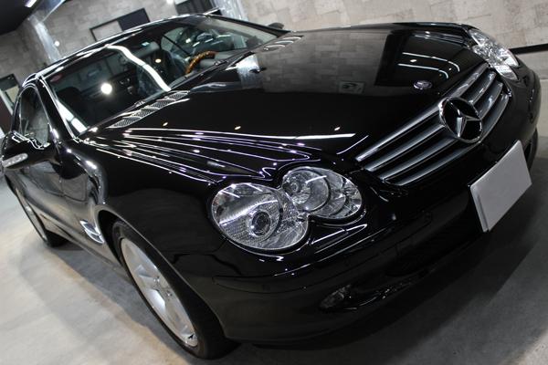 メルセデスベンツ SL600 オプシディアンブラック ボンネット1