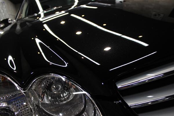 メルセデスベンツ SL600 オプシディアンブラック ヘッドライト