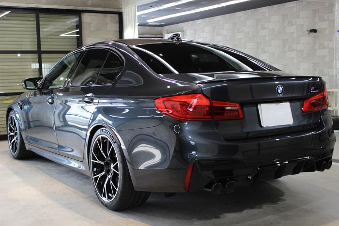 BMW M5コンペティション シンガポールグレー リアバンパー