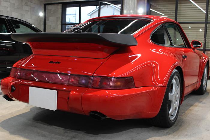 ポルシェ 911ターボ ガーズレッド マフラー