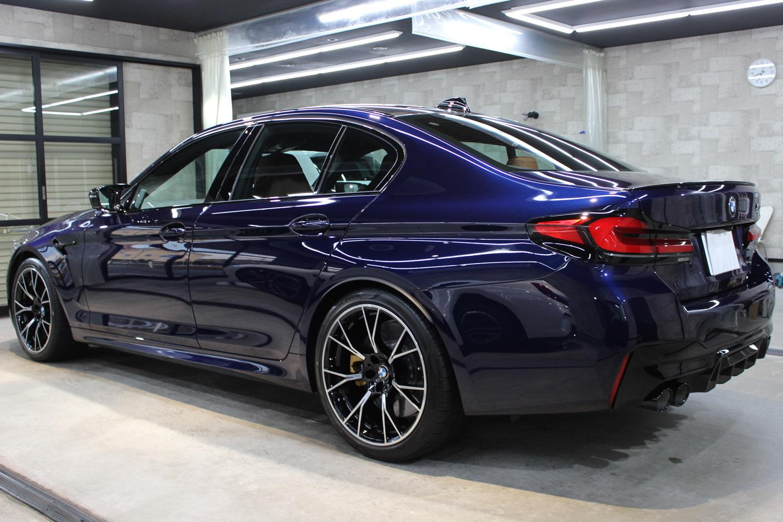 BMW M5 タンザナイトブルー リアバンパー