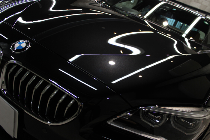 BMW 640i グランクーペ Mスポーツ ブラックサファイア ボンネット2