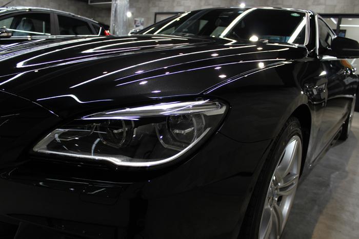 BMW 640i グランクーペ Mスポーツ ブラックサファイア ヘッドライト