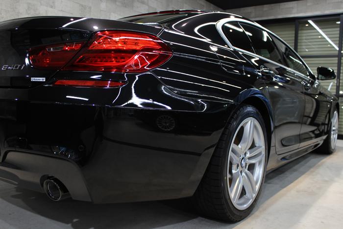 BMW 640i グランクーペ Mスポーツ ブラックサファイア マフラー