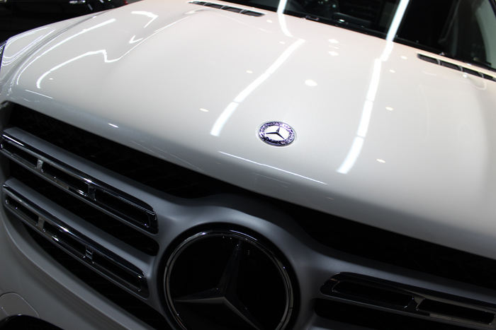 メルセデスベンツ GLS350d 4マチックスポーツ ダイヤモンドホワイト ボンネット3