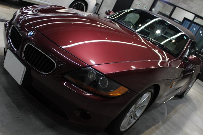 BMW Z4 メルローレッド ボンネット1