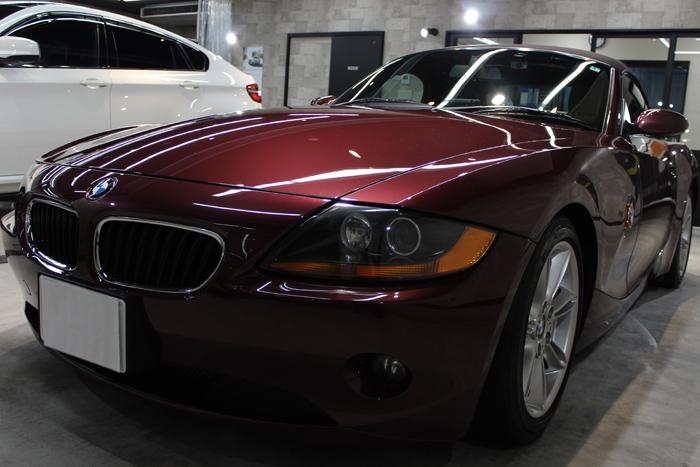 BMW Z4 メルローレッド フロントバンパー1