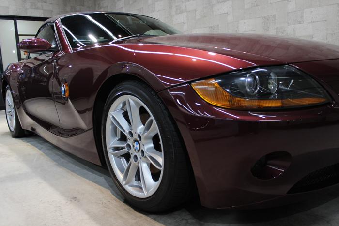BMW Z4 メルローレッド ヘッドライト