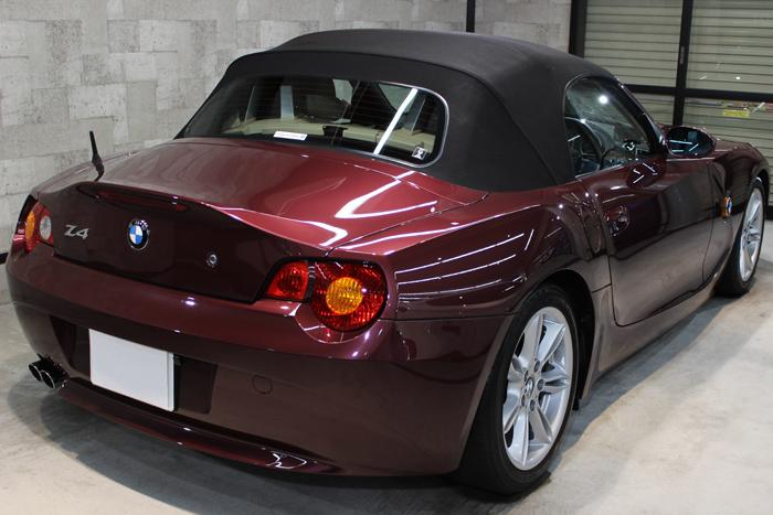 BMW Z4 メルローレッド リアバンパー
