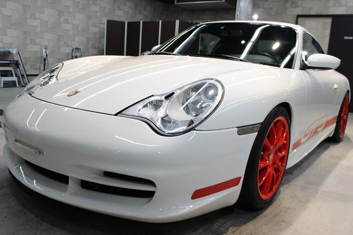 ポルシェ 911 GT3 996 キャララホワイト フロントバンパー1