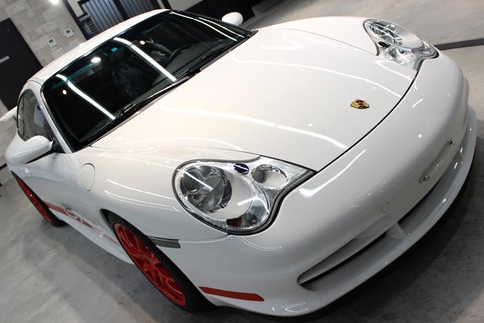 ポルシェ 911 GT3 996 キャララホワイト ボンネット2