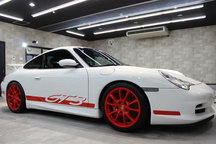 ポルシェ 911 GT3 996 キャララホワイト ホイール1