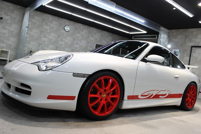 ポルシェ 911 GT3 996 キャララホワイト ホイール2