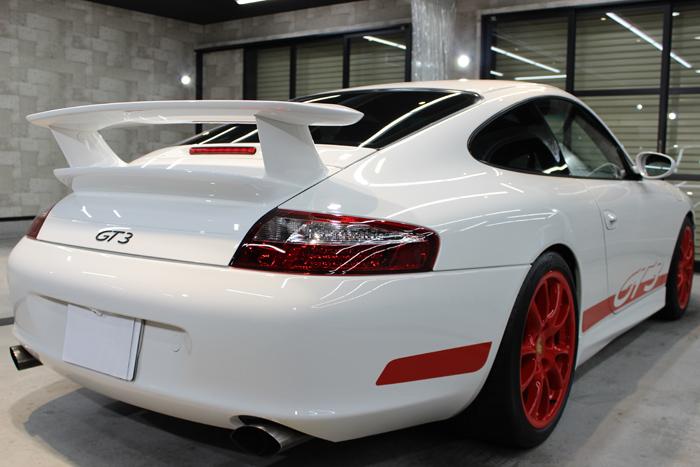 ポルシェ 911 GT3 996 キャララホワイト スポイラー