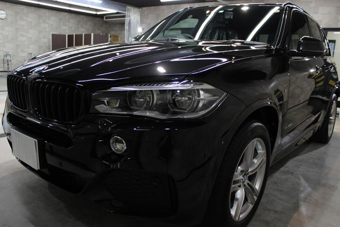 BMW X5 xDrive35d Mスポーツ ブラックサファイア フロントバンパー1