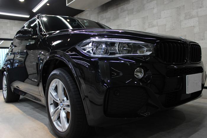 BMW X5 xDrive35d Mスポーツ ブラックサファイア フロントバンパー2