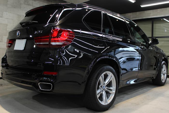BMW X5 xDrive35d Mスポーツ ブラックサファイア リアバンパー1