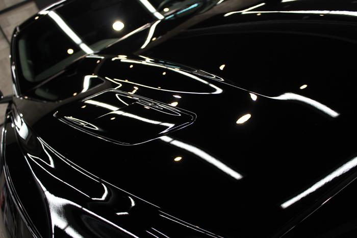 フォード マスタング ブラック ボンネット3