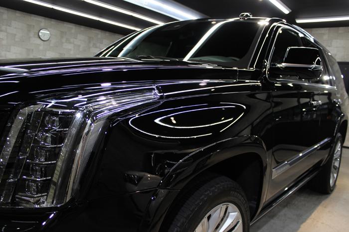 キャデラック エスカレード セーブルブラック ヘッドライト2