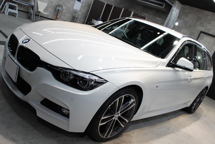 BMW 320d Mスポーツ エディションシャドー アルピンホワイト ボンネット1