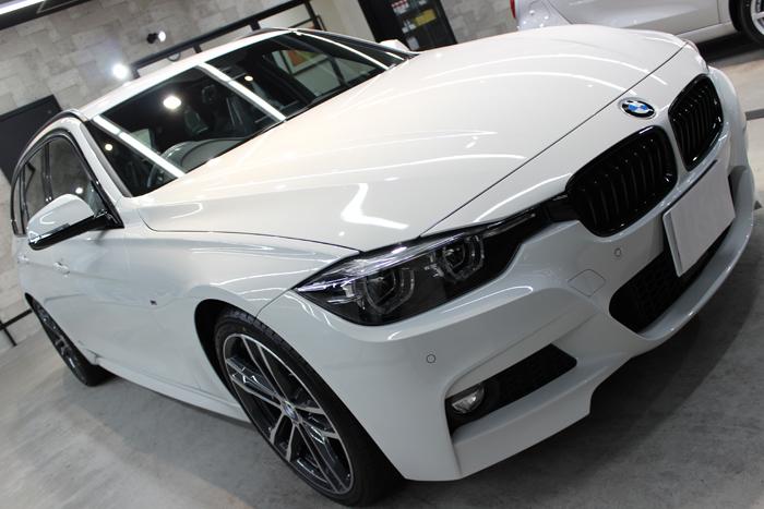 BMW 320d Mスポーツ エディションシャドー アルピンホワイト ボンネット2