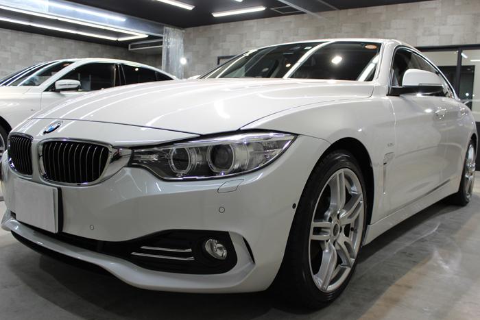 BMW 420i グランクーペ ラグジュアリー ミネラルホワイト フロントバンパー1