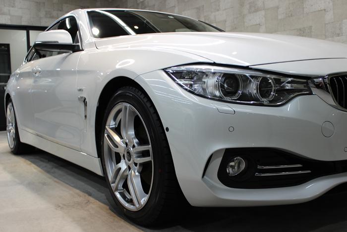 BMW 420i グランクーペ ラグジュアリー ミネラルホワイト ヘッドライト