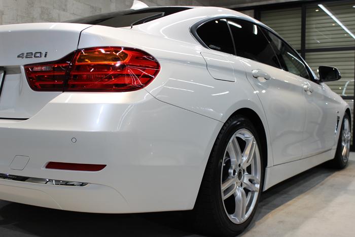 BMW 420i グランクーペ ラグジュアリー ミネラルホワイト リアバンパー