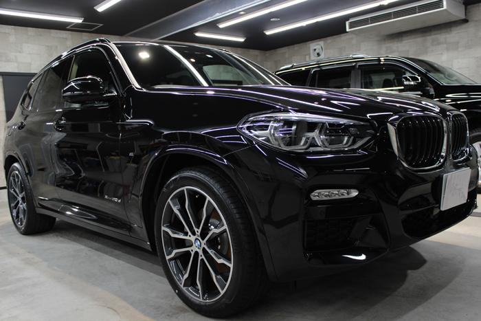 BMW X3 xDrive20d Mスポーツ ブラックサファイア フロントバンパー1