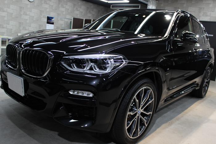 BMW X3 xDrive20d Mスポーツ ブラックサファイア キドニーグリル 左