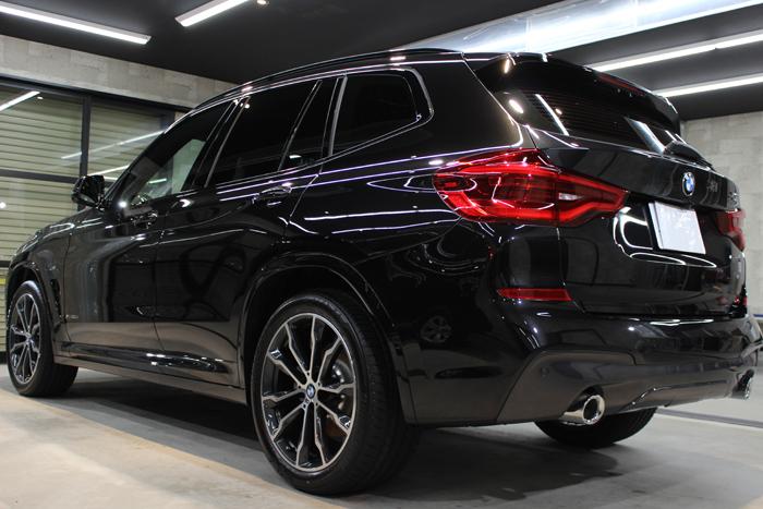 BMW X3 xDrive20d Mスポーツ ブラックサファイア リアバンパー
