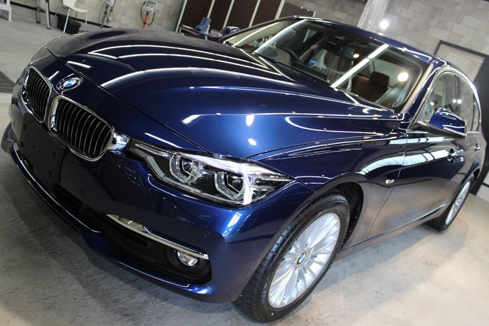 BMW 320d メディテラニアンブルー ボンネット1