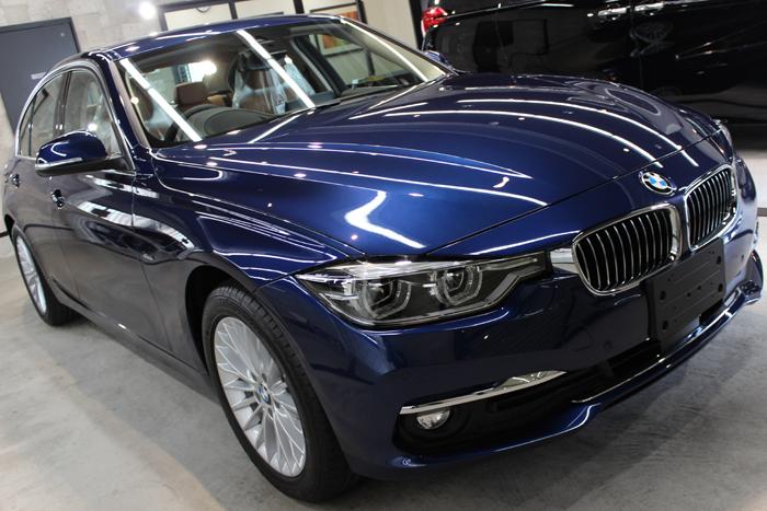 BMW 320d メディテラニアンブルー ボンネット2