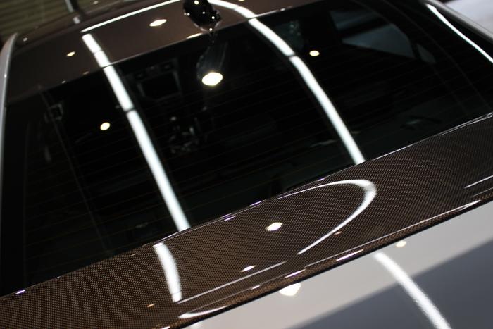 スバル WRX STI S208 クールグレーカーキ カーボンリアウイング