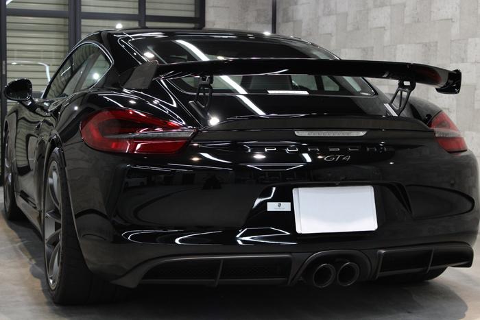 ポルシェ ケイマン GT4 ブラック リアバンパー