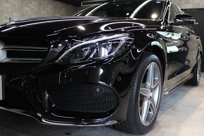 メルセデスベンツ C200 オプシディアンブラック ヘッドライト