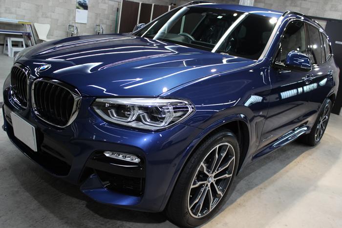 BMW X3 ファイトニックブルー ボンネット1