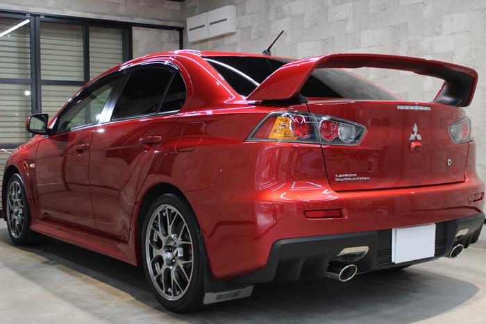 三菱 ランサーエボリューションX レッドメタリック リアバンパー