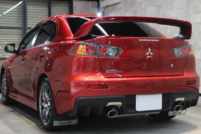 三菱 ランサーエボリューションX レッドメタリック スポイラー