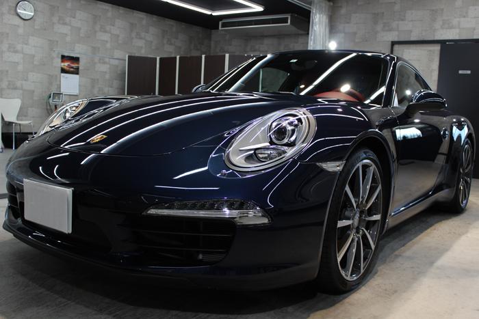 ポルシェ 911 カレラS ダークブルーメタリック 991 フロントバンパー左