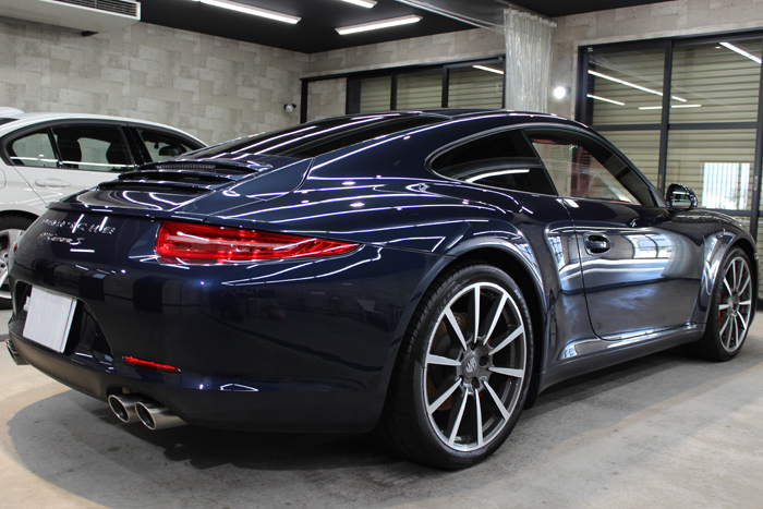 ポルシェ 911 カレラS ダークブルーメタリック 991 ホイール右