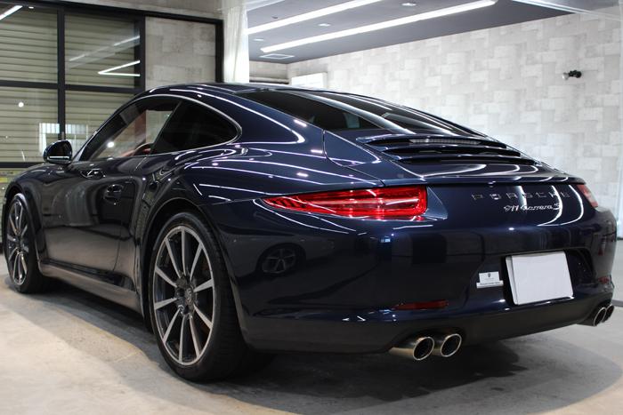 ポルシェ 911 カレラS ダークブルーメタリック 991 クォーター左
