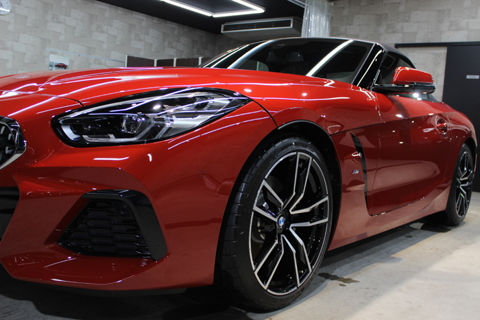 BMW Z4 サンフランシスコレッド ヘッドライト